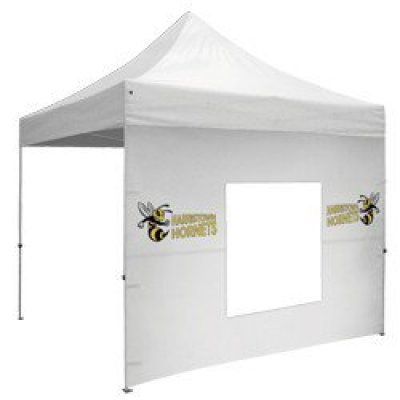 10' Middle Zipper Wall w/Zipper Ends - Full-Color Thermal Imprint