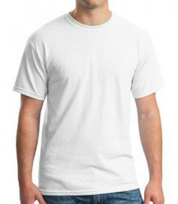 White 5oz 100% Cotton T-Shirt w/ 1-Color Imprint