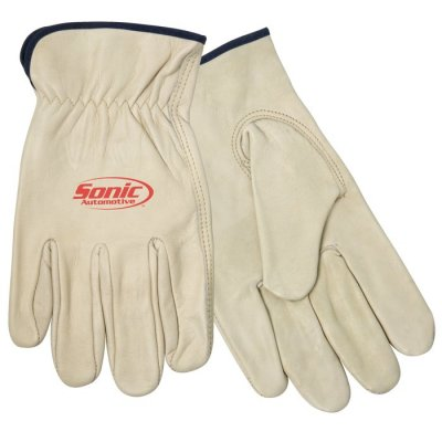 Cow Grain Driver's Glove
