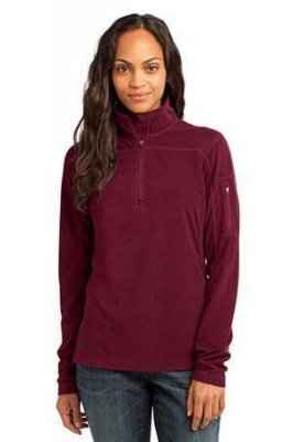 Ladies 1/4-Zip Grid Fleece Pullover