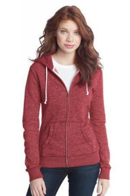 Juniors Marled Fleece Full-Zip Hoodie