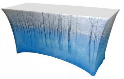 4ft Spandex Table Cover 42in H w/ Dye-Sublimated Imprint