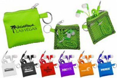 Sporty Pouch & Colorful Ear Buds