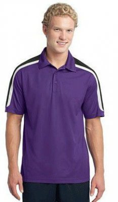Tricolor Shoulder Micropique Sport-Wick Polo