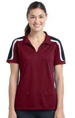 Ladies Tricolor Shoulder Micropique Sport-Wick Polo