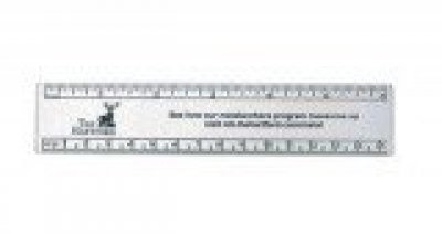 "Gold/Silver Color Coated Aluminum 6"" Ruler"