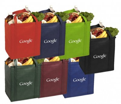 "Insulated 15"" x 13"" x 10"" Non-Woven Grocery Bag"