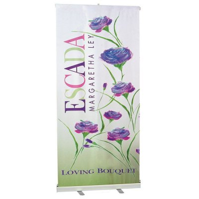 "33"" x 79"" Full-Color Polyester Retractable Banner"
