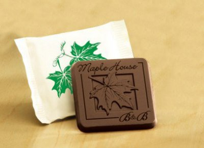 "Engraved Milk or Dark Chocolate Bars + Custom Wrappers 2"" x 2"""