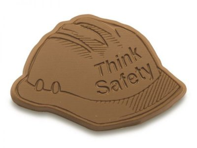 Think Safety Chocolate Hard Hat Shape