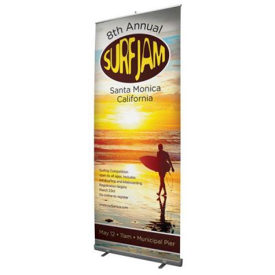 "Jumbo Tall 47""W x 122.25""H Retractable Banner"