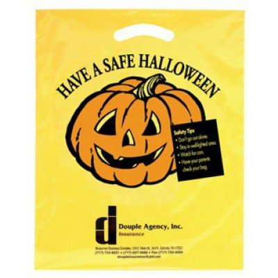 Yellow Halloween Die Cut Bag