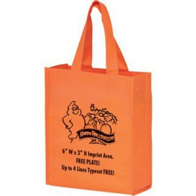 STOCK DESIGN HALLOWEEN NON-WOVEN TOTE BAG • HAPPY HALLOWEEN GHOST