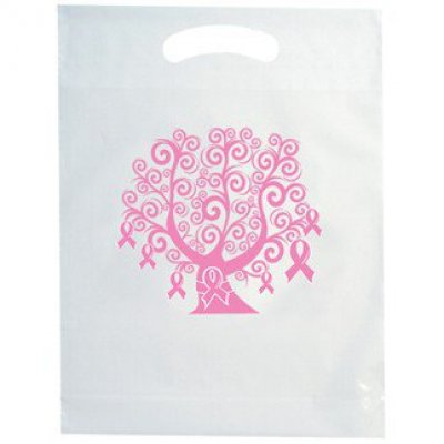 BREAST CANCER AWARENESS DIE CUT BAG WITH TREE DESIGN STOCK DESIGN ONLY