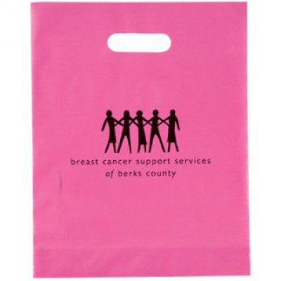 FROSTED DIE CUT BAG - PINK - BREAST CANCER AWARENESS
