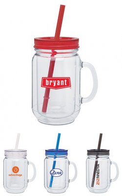 18oz Acrylic Double Wall Mason Mug