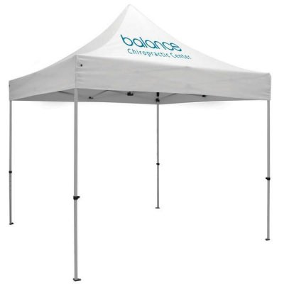 10ft x 10ft Aluminum Canopy (Imprint 1 Location in Full-Color)