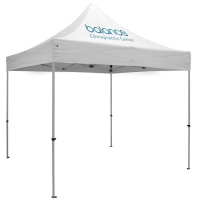 10ft x 10ft Aluminum Canopy (Imprint 1 Locations in Full-Color)