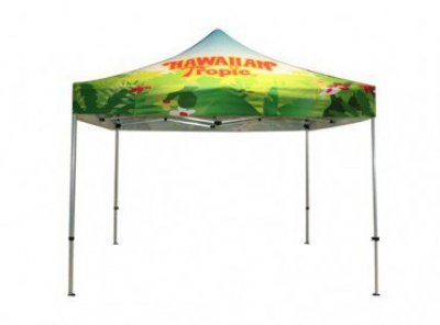 10ft x 10ft Aluminum Canopy Entire Canopy Full Color Imprint