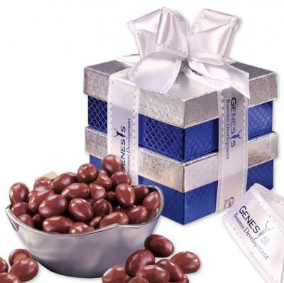 "Rombeâ""¢ Four-Point Bowl with Chocolate Covered Almonds"