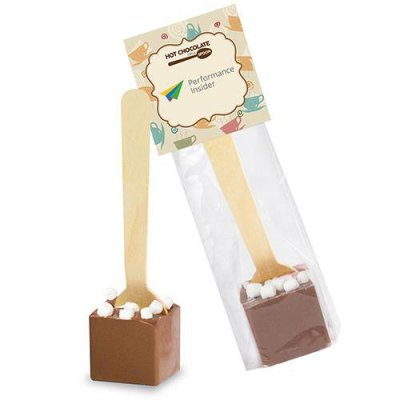 Hot Chocolate on a Spoon in Header Bag  - Belgian Milk Chocolate with Marshmellows