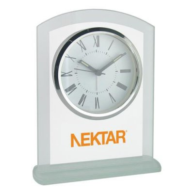Panel Glass Desk Alarm Clock