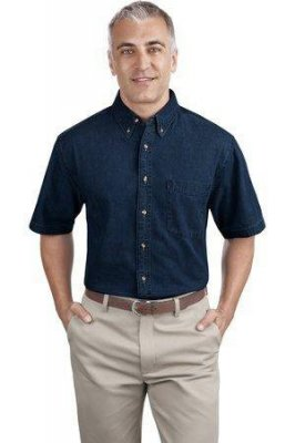 Port & Company Short Sleeve Value Denim Shirt