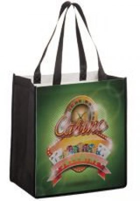 "12"" x 8"" x 13""H Non-Woven Bag w/ Full-Color Imprint on 2 Sides"