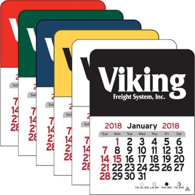 Rectangle Vinyl Adhesive Mini Stick Calendar