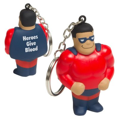 Super Hero Stress Reliever Key Chain