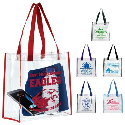 "12"" x 12"" x 6"" Clear Vinyl Stadium Approved Bag"