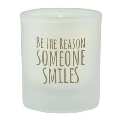 3 OZ FROSTED GLASS SOY CANDLE