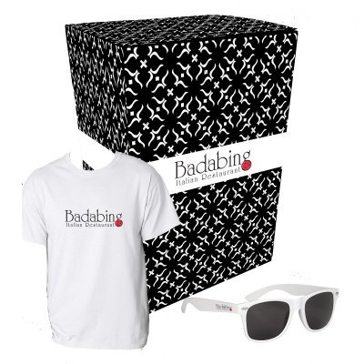 Gildan T-Shirt and Sunglasses Combo Set with Custom Box