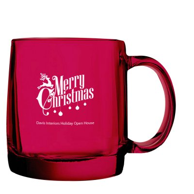 CATHEDRAL GLASS MUG 13 OZ.