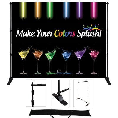 "72""W x 96""H Adjustable Display-- Standard Poly Fabric"