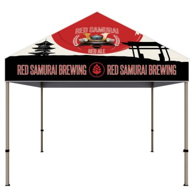 10 Ft. Steel Canopy Tent Dye-Sub Graphic Package