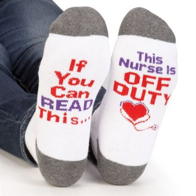 "If You Can Read This... This Nurse Is Off Duty ""Toe""-tally Awesome Ankle Socks"