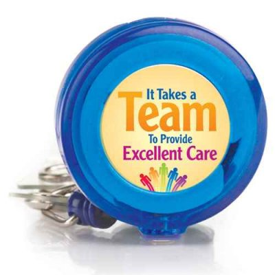 It Takes A Team To Provide Excellent Care 4-Color Retractable Badge Holder