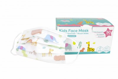 Animal Print Children Size 3-Ply Disposable Mask