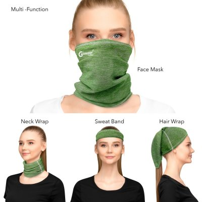 Antimicrobial Comfort Mesh Cooling Neck Gaiter Face Mask With SILVADUR & Odor Control