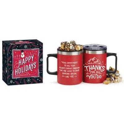 Mug w/ S'Mores Popcorn in Holiday Gift Box
