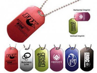 Dog Tag with 23-1/2 in.  Ball Chain