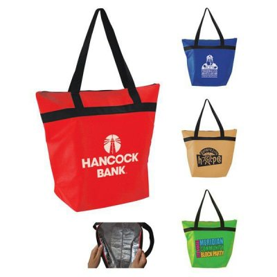 "14"" x 21"" x 5"" Insulated Shopper Tote"