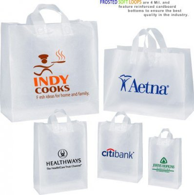 Clear Frosted Soft-Loop Plastic Bags